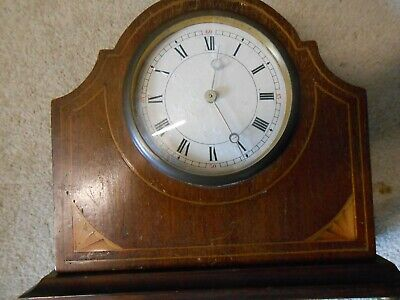 Mantle Clock with Platform Escapement. Swiss made stamped movement. Vintage.Deco