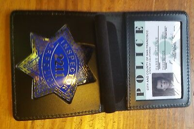 Dirty Harry Full Size Badge, Id Card, And Wallet Movie Prop
