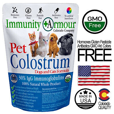 Colostrum for Dogs and Cats Supplement 100% Allergy Relief 30%IgG - Powder