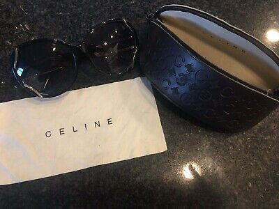 Lovely Celine Black Sunglasses with Case & Cleaning Cloth