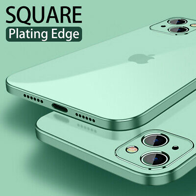 Case For iPhone 11 Pro Max XR 8 7 6S Shockproof Plating Square Clear Soft Cover