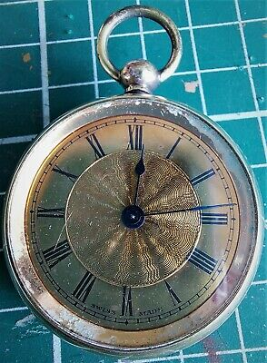 1920/30s IVY Swiss Made Pocket Watch Gold Plated Brass - Working - N/R