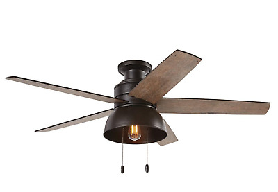Hunter Ceiling Fan Light Kit 52 In Led Indoor Outdoor Bronze Rustic Farmhouse 115 30 Picclick Uk