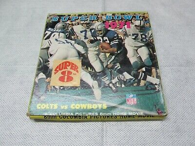Super Bowl  '71  8mm Columbia Pictures Home Movie, Colts vs Cowboys 1971