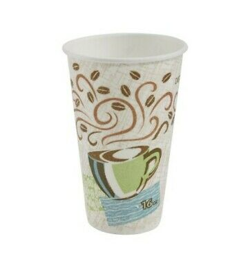 1000 ct Dixie PerfecTouch 16 oz. Insulated Paper Hot Coffee Cups by GP PRO