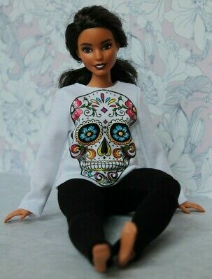 Blouse and Leggings for Dolls. №064 Clothes for Curvy Barbie Doll