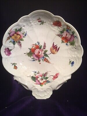 Antique Porcelain Shell Dish Hand Painted Unmarked