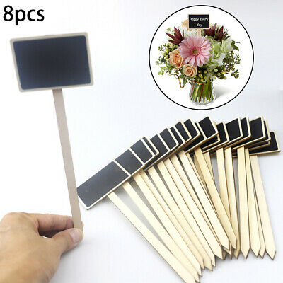 Set of 20 Slate Garden Markers /& Chalk Plant Labels Greenhouse Stakes M/&W