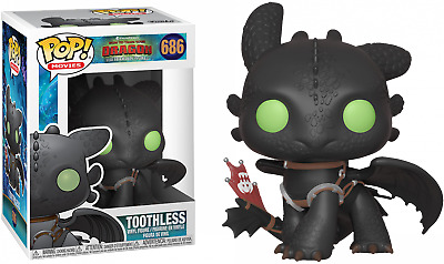 9cm Funko Pop Crocmou 686 Toothless Dragons 3
