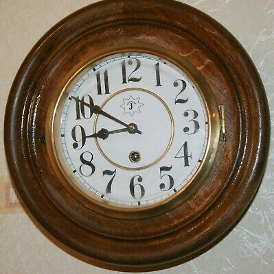 Antique Junghans Gallery Wall Clock Round Movement Marked