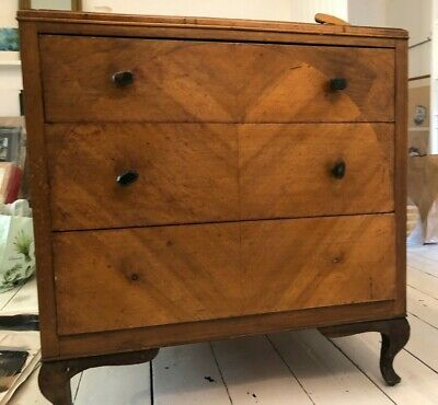 Antique bedroom chest of drawers, pine wood, used but good condition