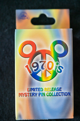 Disney Pins Mickey and Friends 1970s Mystery Pin Set Limited Release New In Box