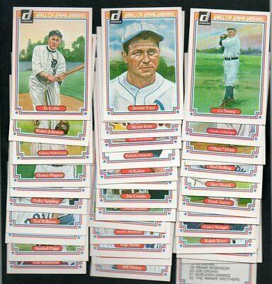 1983 Donruss Hall of Fame Complete Set of 44 - Mantle Cobb Williams Robinson NM