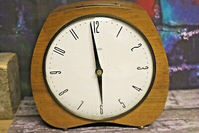 smiths Art Deco mantel clock With Brass inscription Working Order