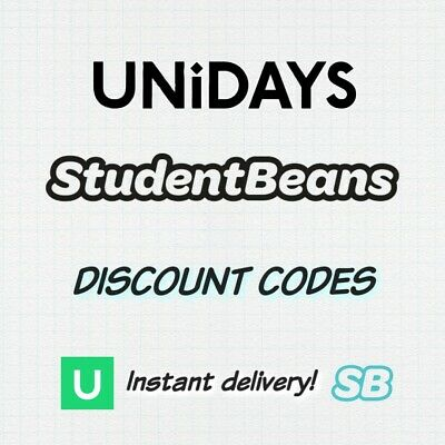 Unidays And Student Beans Discount Codes - Instant Delivery!