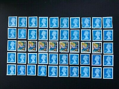 100 x  UNFRANKED   2nd class stamps   'ON'   paper. No Gum -  Face Value £65
