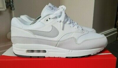 NIKE AIR MAX 1 White Pure Platinum Cool Grey UK 10 Brand New