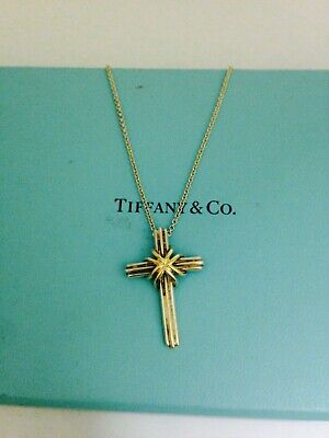 Tiffany Co Silver 18k Rose Gold Oval Heart Key Necklace Pendant Charm 18 Inches 948 00 Picclick