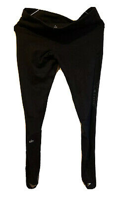 Alo Yoga High Waist Black Moto Leggings Pants Size Small Full Length 27 75 Picclick Uk