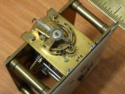 Good Small Carriage Clock Lever Platform Movement & Dial--Working Fine