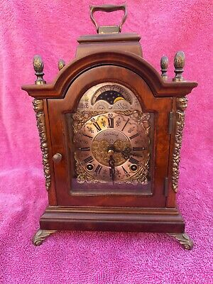 Large Mahogany Gustav Becker 8 Day Westminster Chimes Mantel Clock