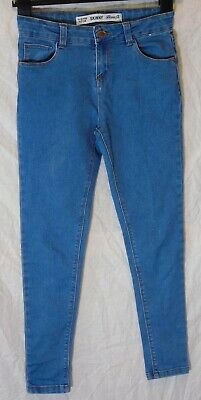 Boys Primark Mid Classic Blue Denim Skinny Fit Stretch Jeans Age 11-12 Years