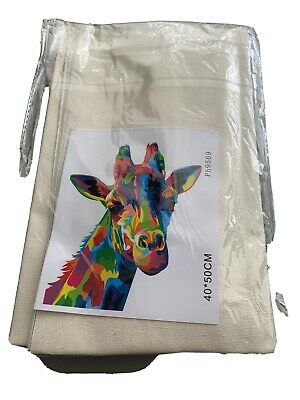 Giraffe Canvas Paint By Numbers Kit