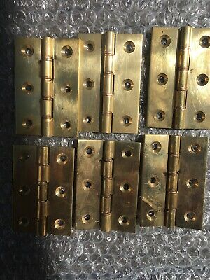 Brass Door Hinges X 6