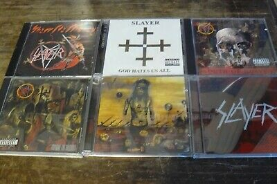 Slayer 6 Cd Lot God Hates Us All Show No Mercy South Of Heaven Christ Illusion R