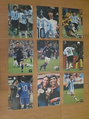 Lote Cards Messi Seleccion Argentina.messi Card Collection Official.