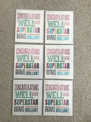 bundle of 6 Congratulations Cards Brand New. Blank inside