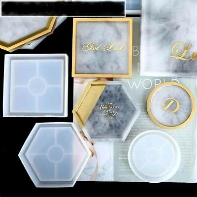 Round Silicone Mold Coaster Resin Casting Jewelry Making Mould Craft Tool DIY HY