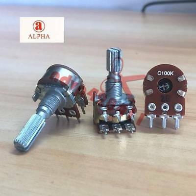 Dual Pot Potentiometer AB 100K Log Dual Concentric Spindle DUCG-100K SEETEXT 814