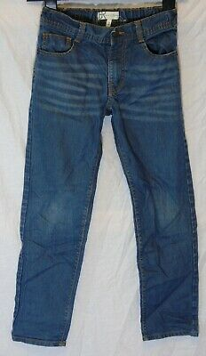 Boys BHS Marylebone Mid Blue Whiskered Denim Relaxed Fit Jeans Age 9-10 Years