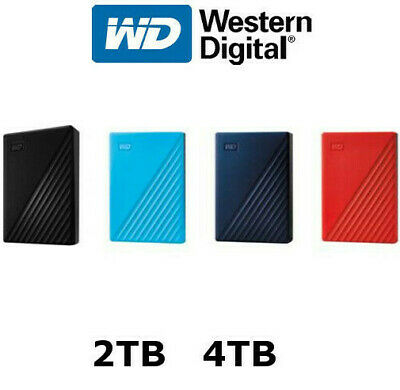 "WD My Passport 1TB 2TB 4TB Portable External Hard Disk Drive 2.5"" USB 3.0 HDD"