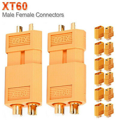 20pcs XT60 Male + Female Gold Plated Connectors Plugs Parts For RC Lipo Battery