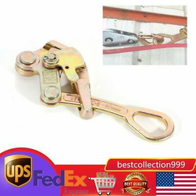 Alloy Steel 1 Ton Cable Wire Rope Haven Grip Jaw Puller Pulling 2204 Lbs