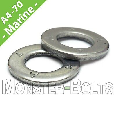 A4 Marine Grade Stainless Steel Flat Washer DIN 125A  M2 M2.5 M3 M4 M5 M6 M8 M10