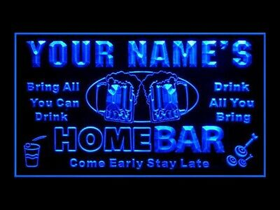 270039 Home Bar Personalized Your Text Display LED Light Sign