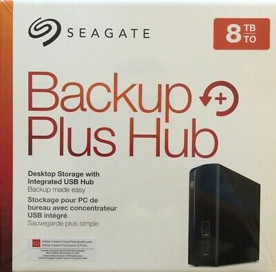 Seagate Backup Plus Hub 8TB External Desktop Hard Drive Black HD STEL8000100 New