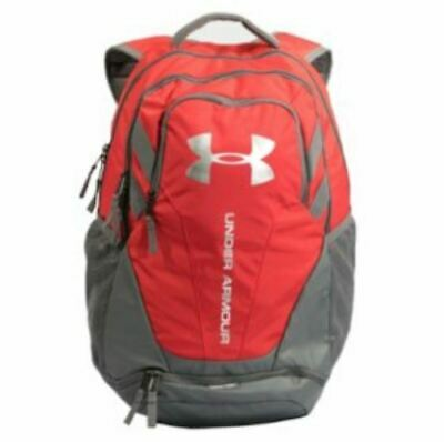 Under Armour 1294720 Hustle 3.0 Backpack, Red/Gray