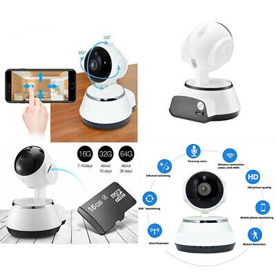 WIFI IP Camera HD 720P Wireless Night Vision Webcam For Baby Pet Home Security