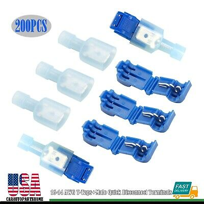 """800 Pack 16-14 AWG Blue Male /& Female Bullet Connectors Insulated Vinyl .156/"""" UL"""