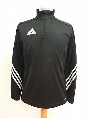 Q865 Boys Adidas Black L/Sleeve Sports Tracksuit Top Uk Xl
