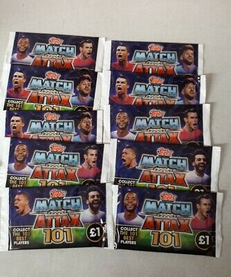 Match Attax 101 10 Packs 7 Cards Per Packet 2019/2020 season