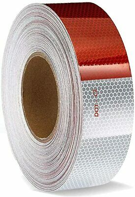 150 X 2 Red//White Trailer Reflector Gift Houseables Reflective Tape Roll Dot C2