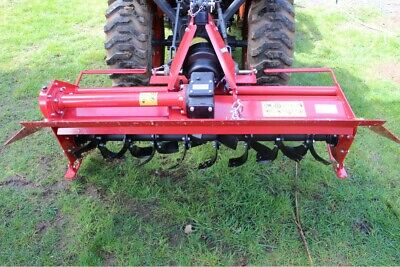 "60"" Heavy Duty Rotary Tiller 3 PT CAT 1 Hitch PTO Driven Gear Drive"