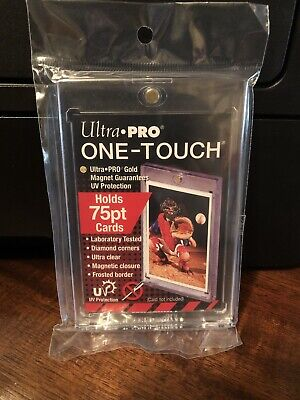 5 Ultra Pro One-Touch 75pt Point Magnetic Card Holder - Lot of 5