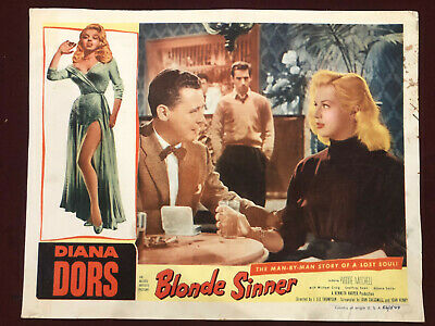 "Blonde Sinner Movie Poster Replica 11x14/"" Photo Print"