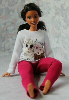 №346 Clothes for Curvy Barbie Doll Blouse and Leggings for Dolls.